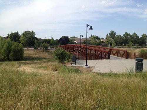 Bridge at north natomas regional park